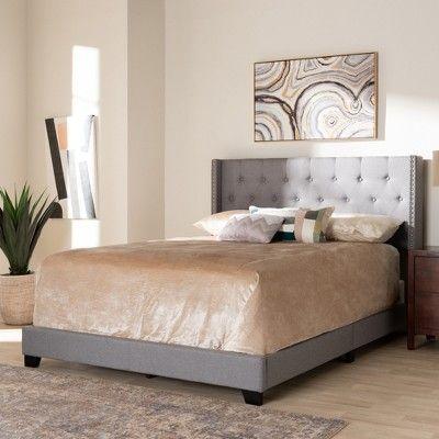 Best Queen Brady Bed Light Gray Baxton Studio *D*Lt Unisex 640 x 480