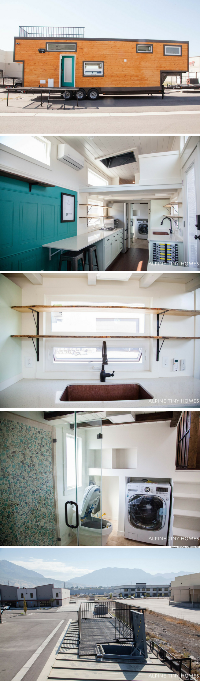 A brand new custom tiny house from Alpine Tiny Homes. Features a dog ...