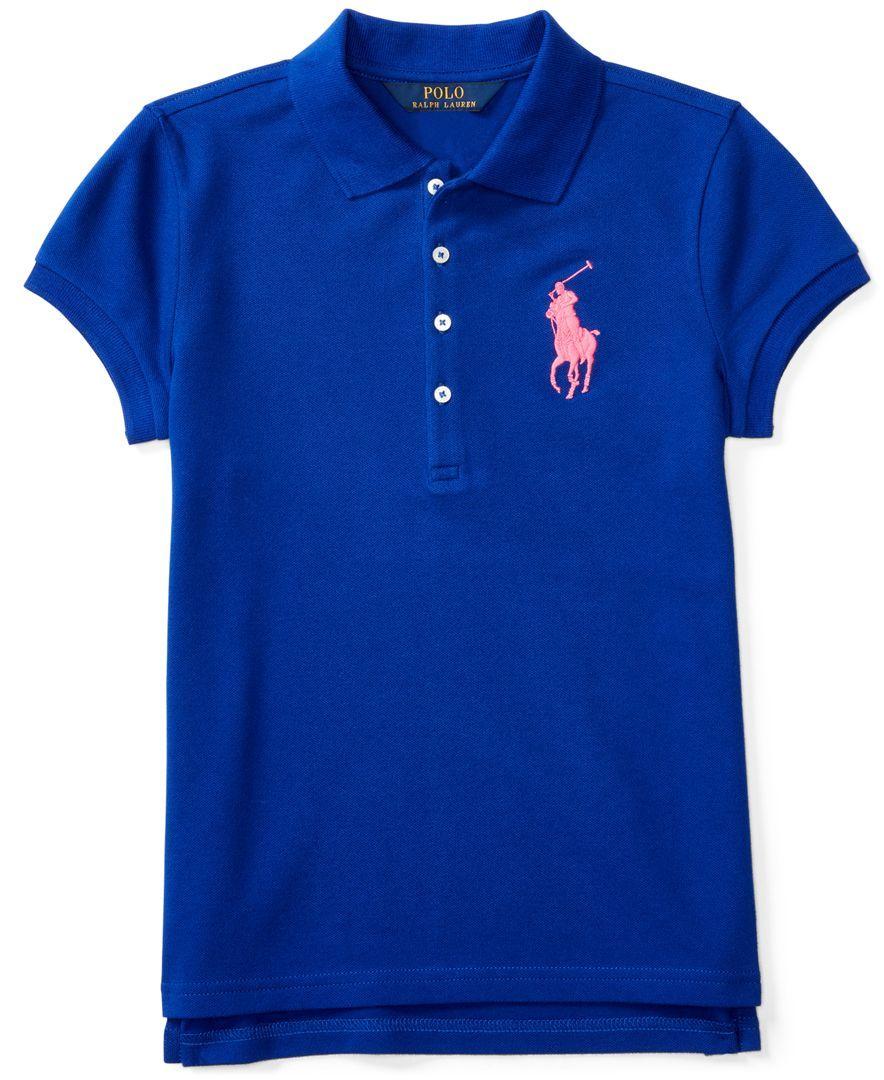 Ralph Lauren Embroidered Polo, Big Girls (7-16)