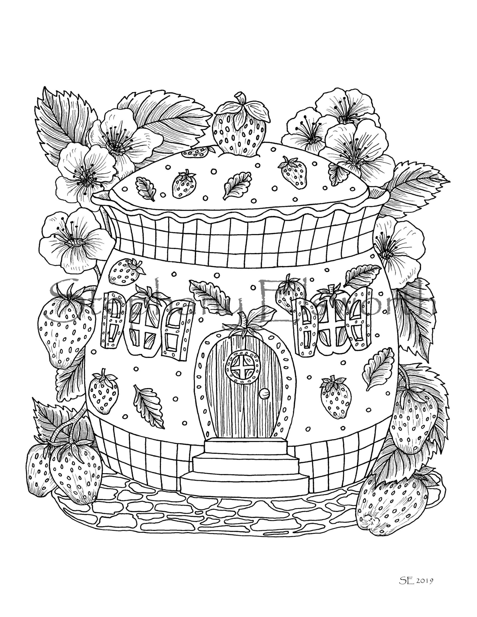 Faerie Houses II A Fairy House PDF Coloring Book