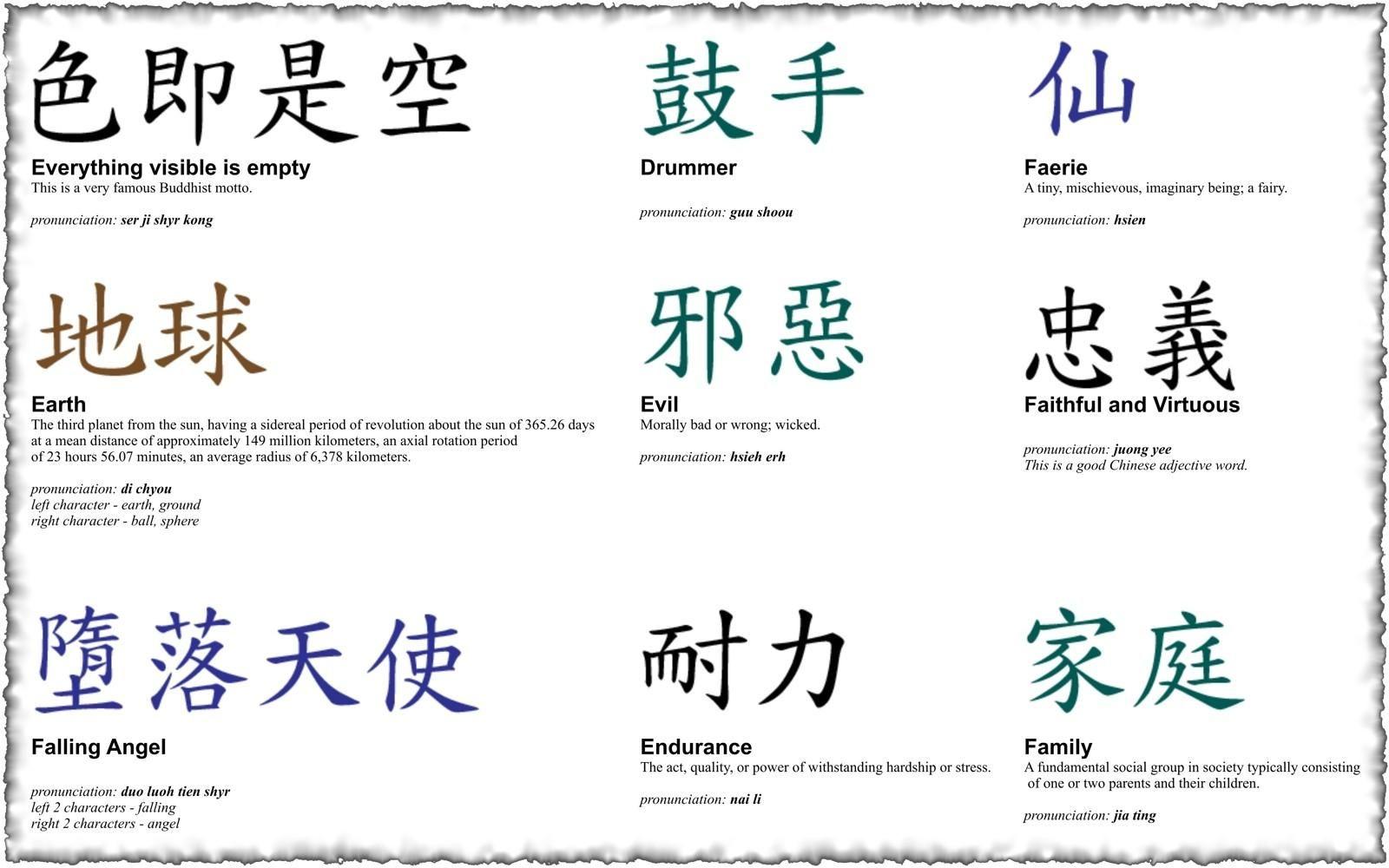 Chinesische Zeichen Tattoovorlagen 3 In 2020 Original Tattoos Chinesische Zeichen Japanische Tattoos