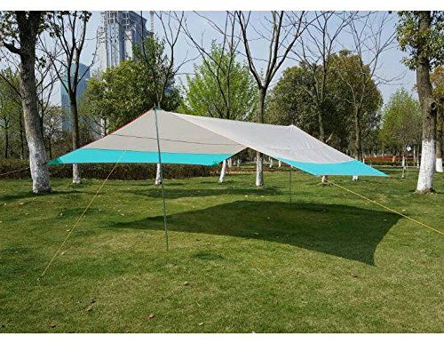 FUNS Multiuse 3x3m 10ft Small Sun Shelter Tarp Rain Tarp Portable Beach Shade Canopy ** & FUNS Multiuse 3x3m 10ft Small Sun Shelter Tarp Rain Tarp Portable ...