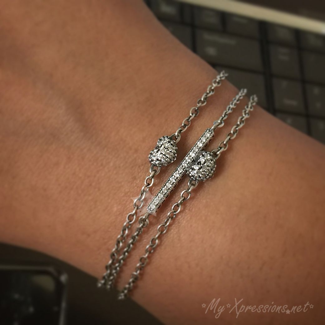 095805b09 Review: Pandora Hearts of Pandora Bar Bracelet | All Pandora bangles ...