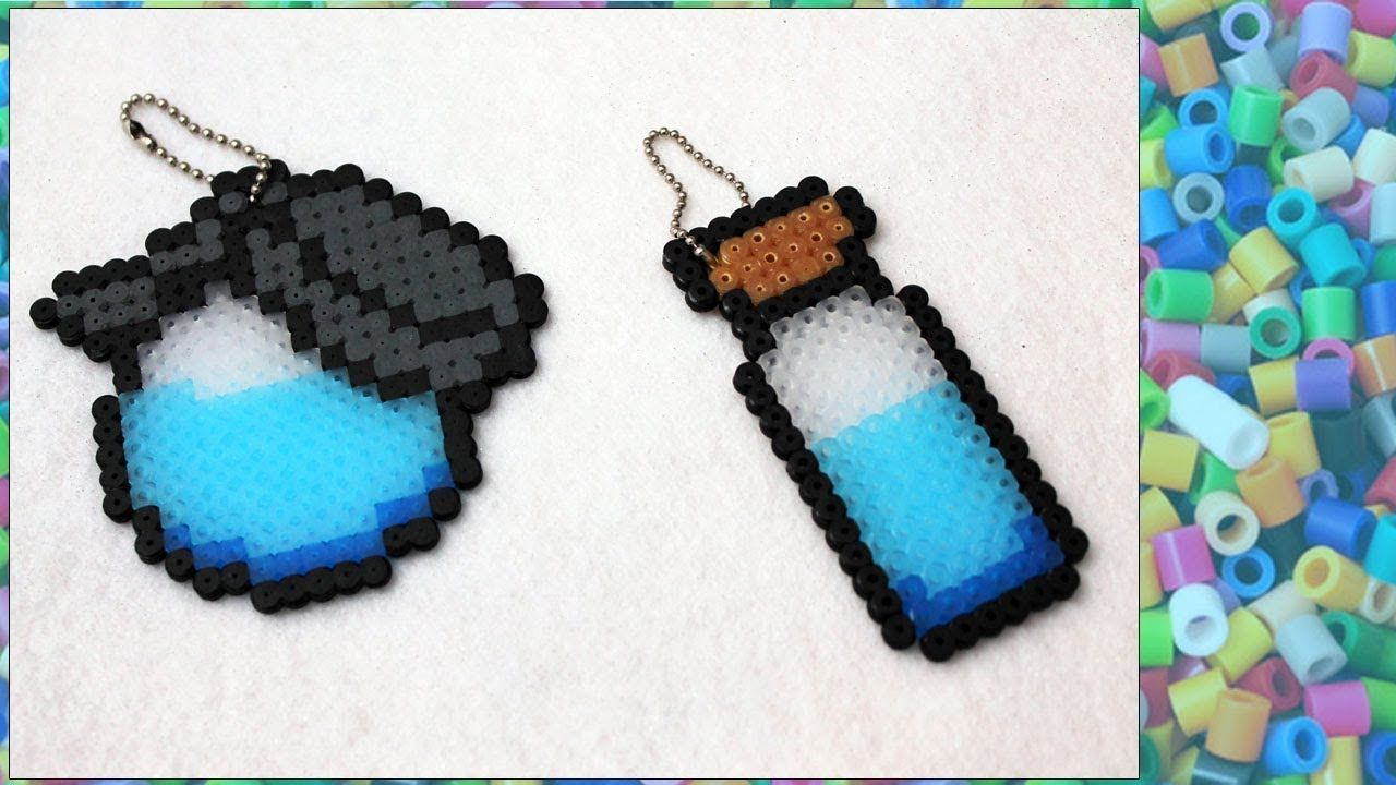 Diy Keychain Potion From Fortnite With Hama Beads Diy