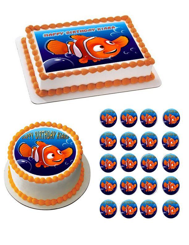 Nemo 2 Edible Birthday Cake Topper Or Cupcake Topper Decor