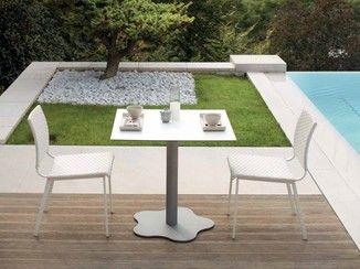 Tavolo Rattan ~ Tavolo da giardino quadrato samba rio tavolo da giardino