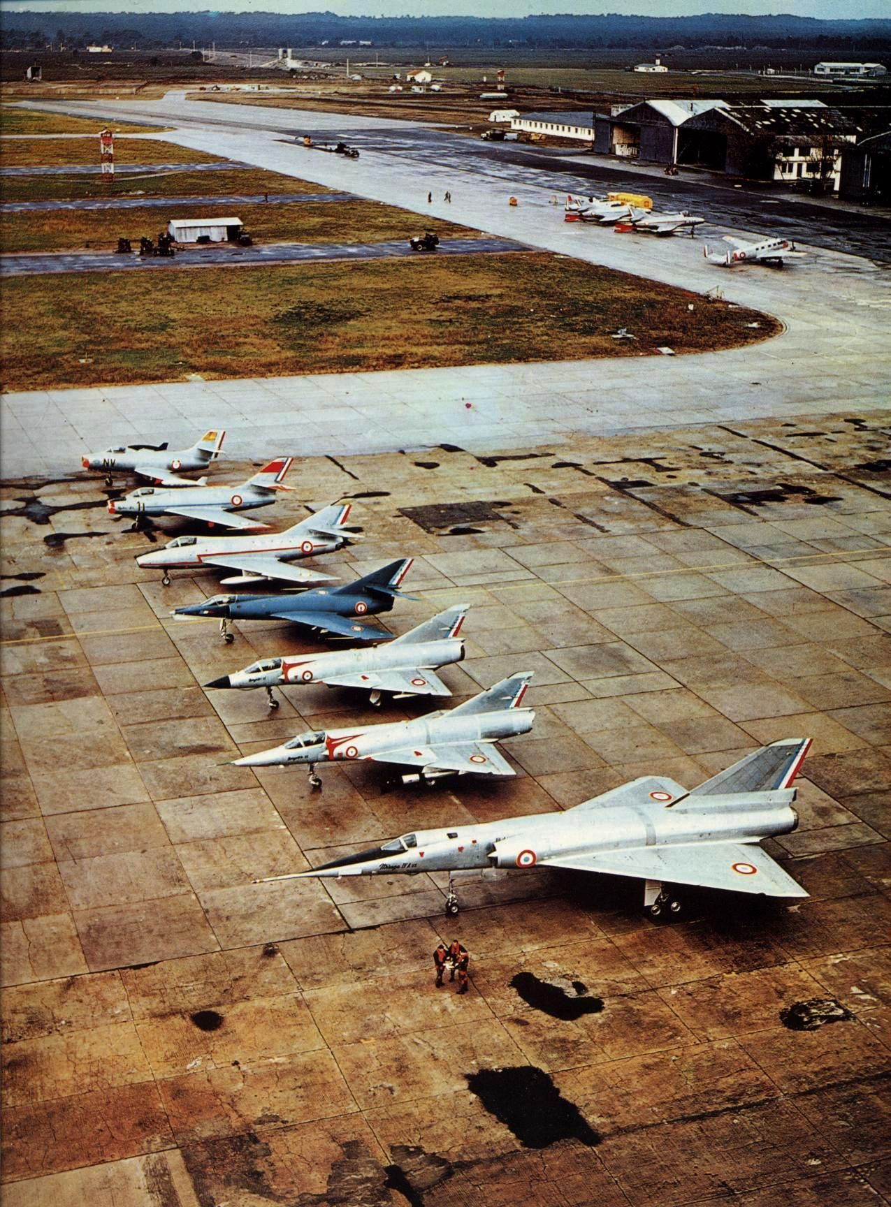 Dassault family in the 70 s Ouragan Mystere Super Mystere Etendard IV Mirage