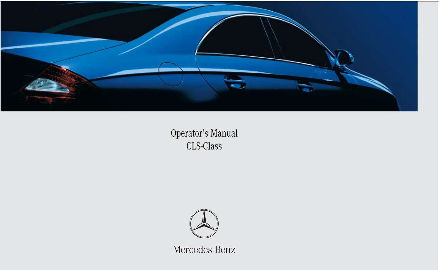 Mercedes Benz Cls Class 2007 Owner S Manual Has Been Published On Procarmanuals Com Https Procarmanuals Com Mercedes Mercedes Mercedes Benz Mercedes Benz Cls