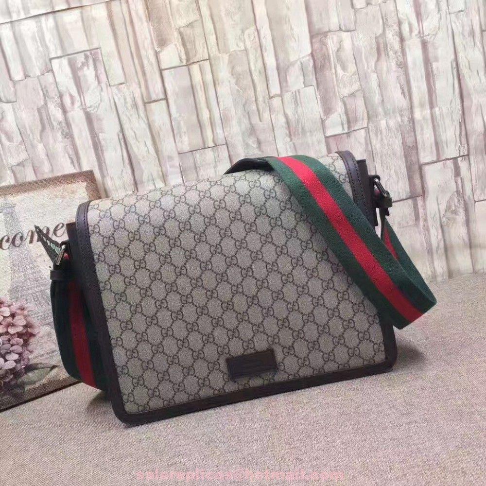 530c372cd2de Replica Gucci Men s flap messenger Bag 474138 Beige