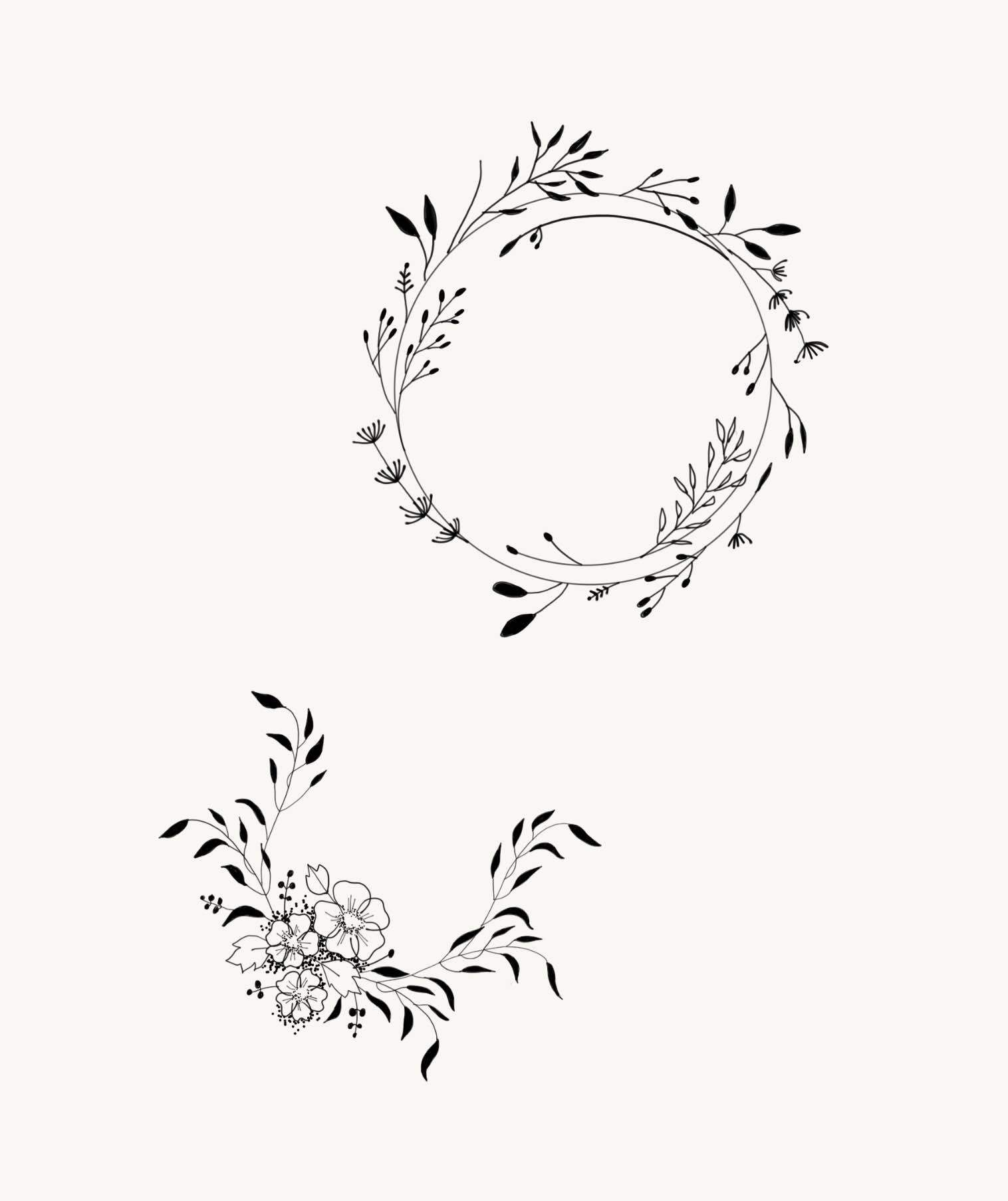 Minimalist Simple Flower Circle Tattoo