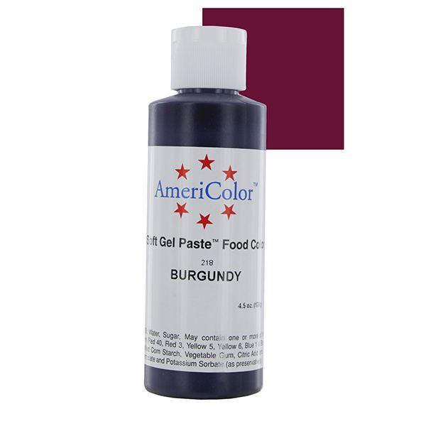 Burgundy Soft Gel Paste 4 1 2 Ounces By Americolor Gel Food Colors Gel Food Coloring Food Coloring Frosting Colors