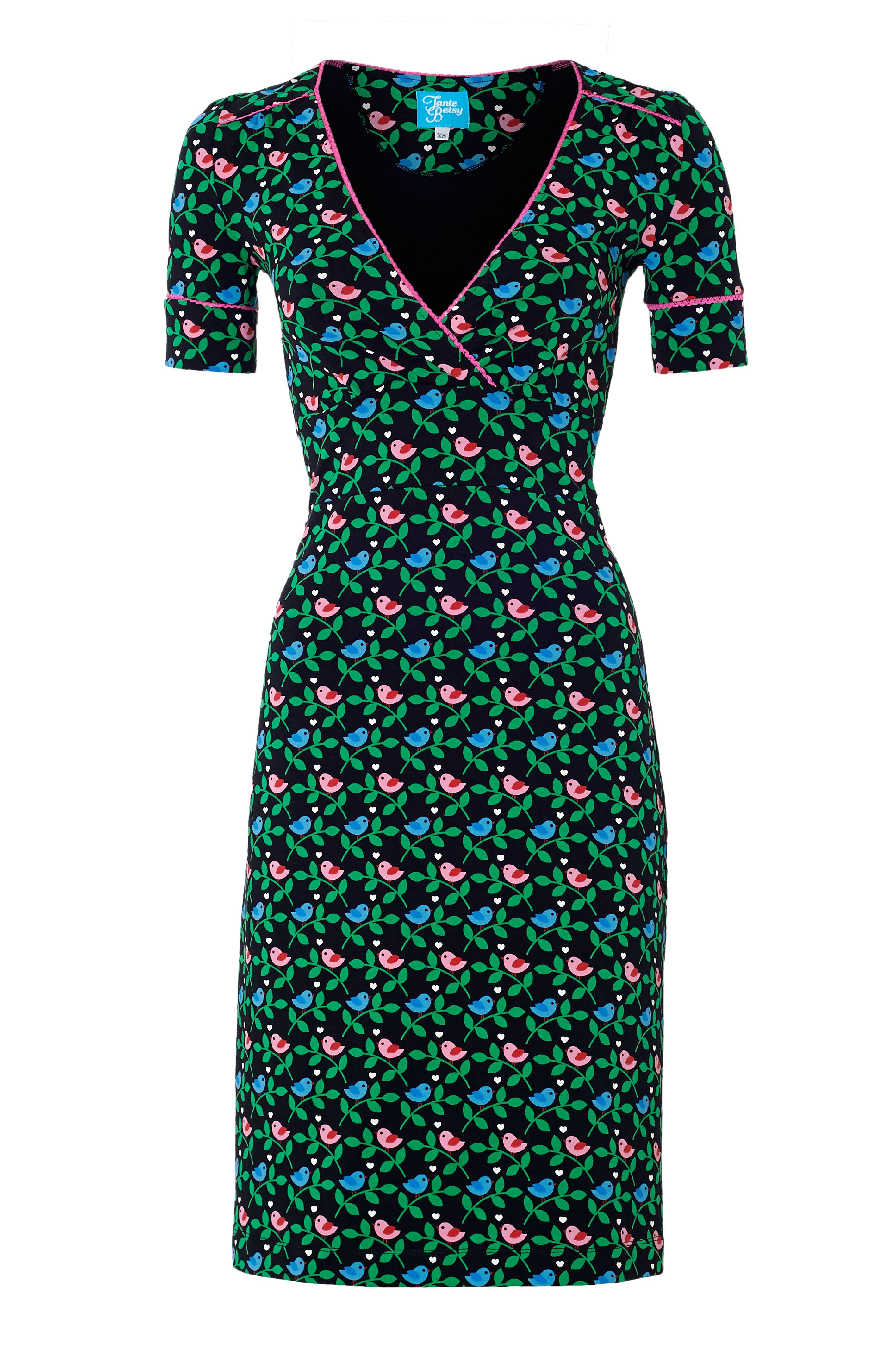 M Kleider Romantic Damen King Louie Schwarz Rose Dress Kleider Langarm Gr Kleidung & Accessoires