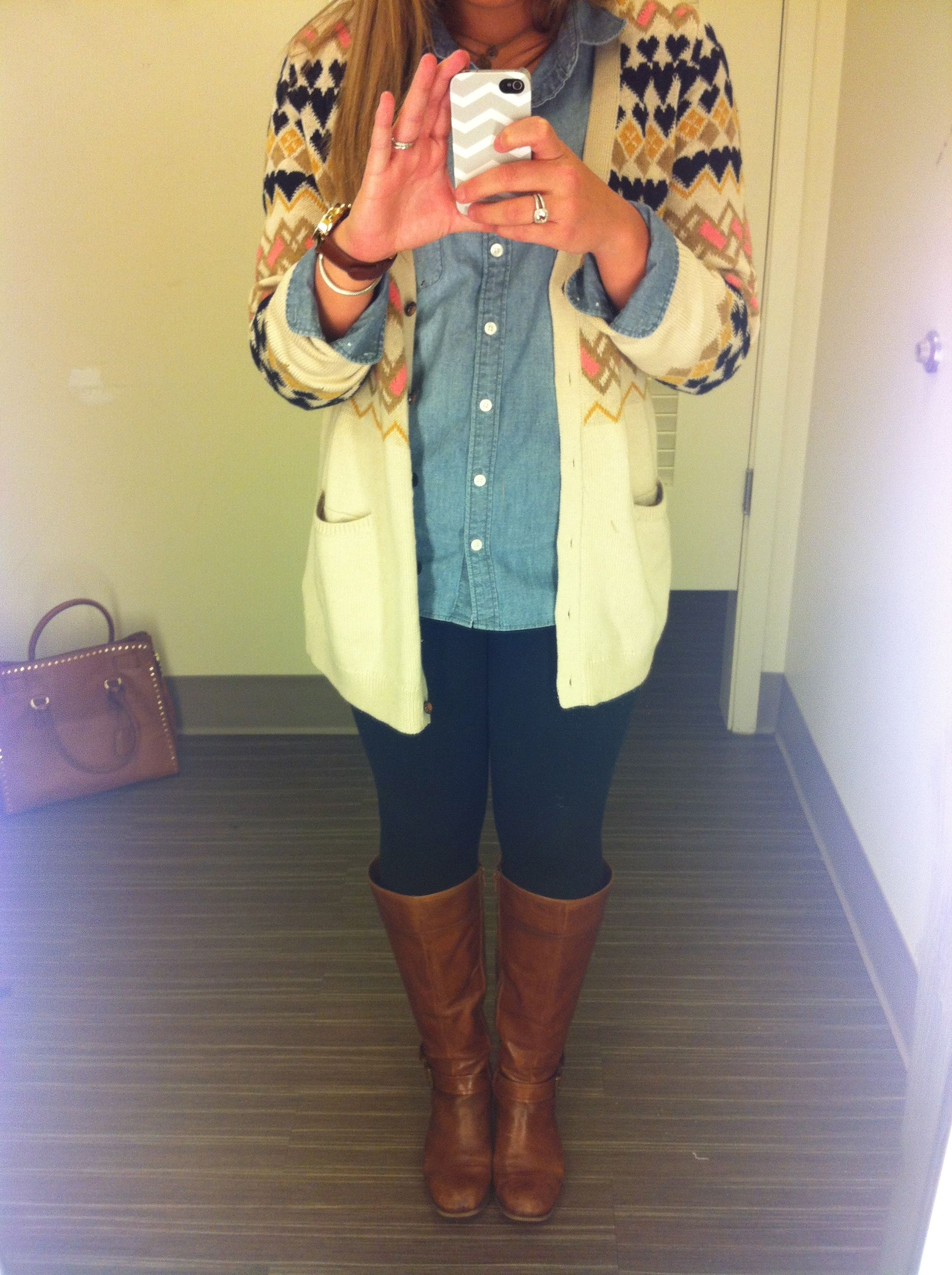 Anthropologie sweater and boots