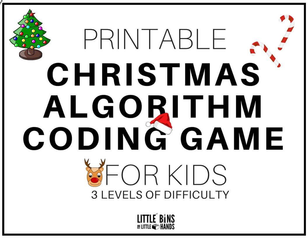 Free Printable Christmas Coding Stem Activity Game For Kids