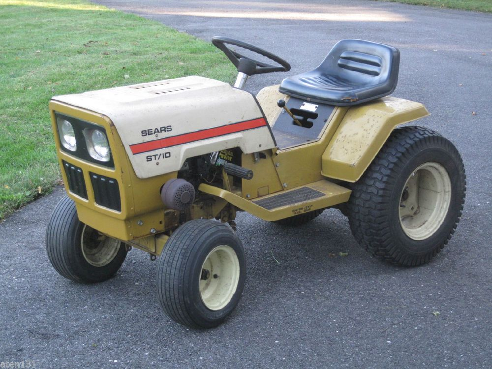 vintage 1977 sears st10 lawn garden tractor 10hp briggs stratton engine sears - Sears Lawn And Garden