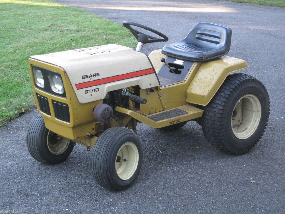 Old Sears Garden Tractors Parts : Vintage sears st lawn garden tractor hp briggs