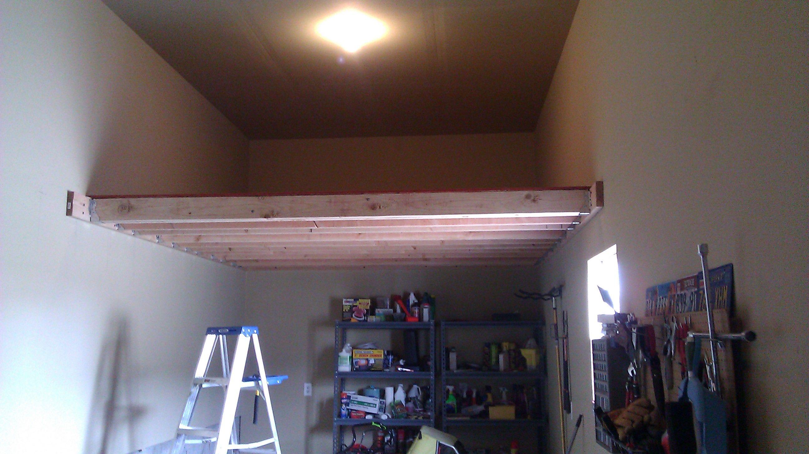 Simple Loft Storage In The Garage