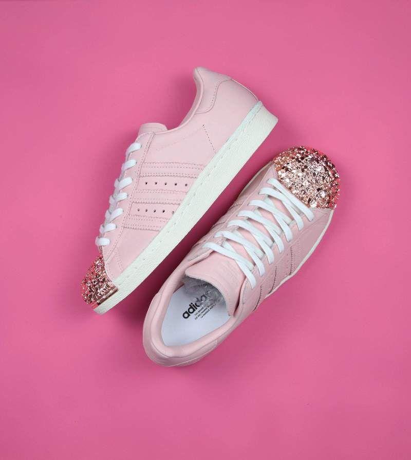 adidas superstar light pink and gold