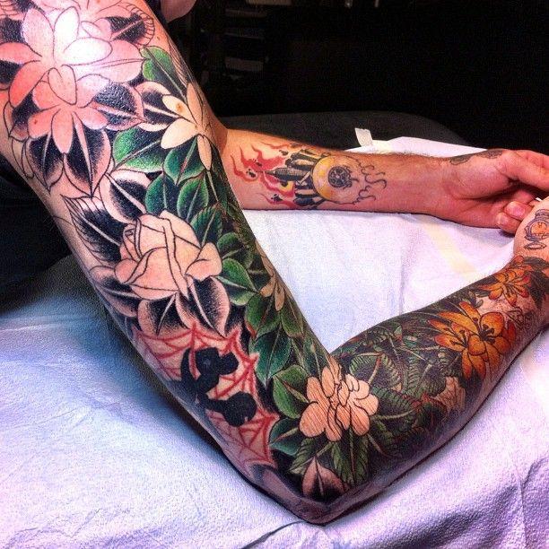 jungle sleeve tattoo - Google Search