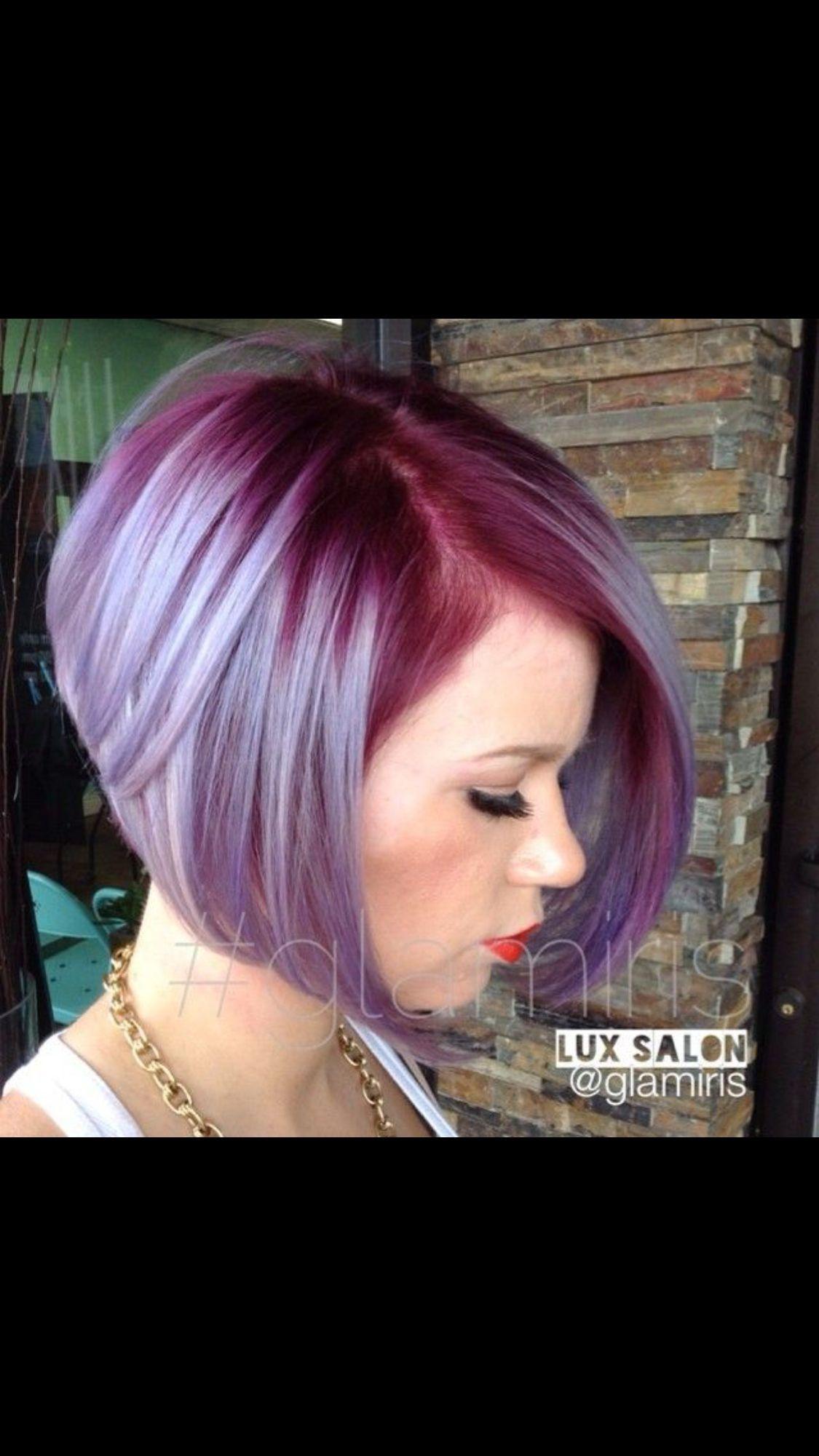 Dark Pink Roots Light Pink Ends Hair Styles Purple Hair Lavender Hair