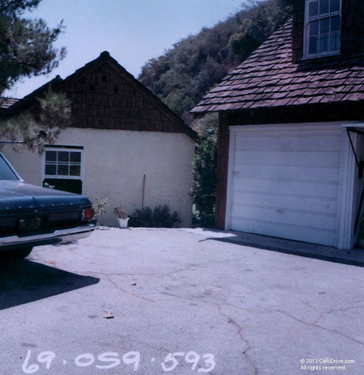 10050 Cielo Drive Garage And Main House Charles Manson Family And