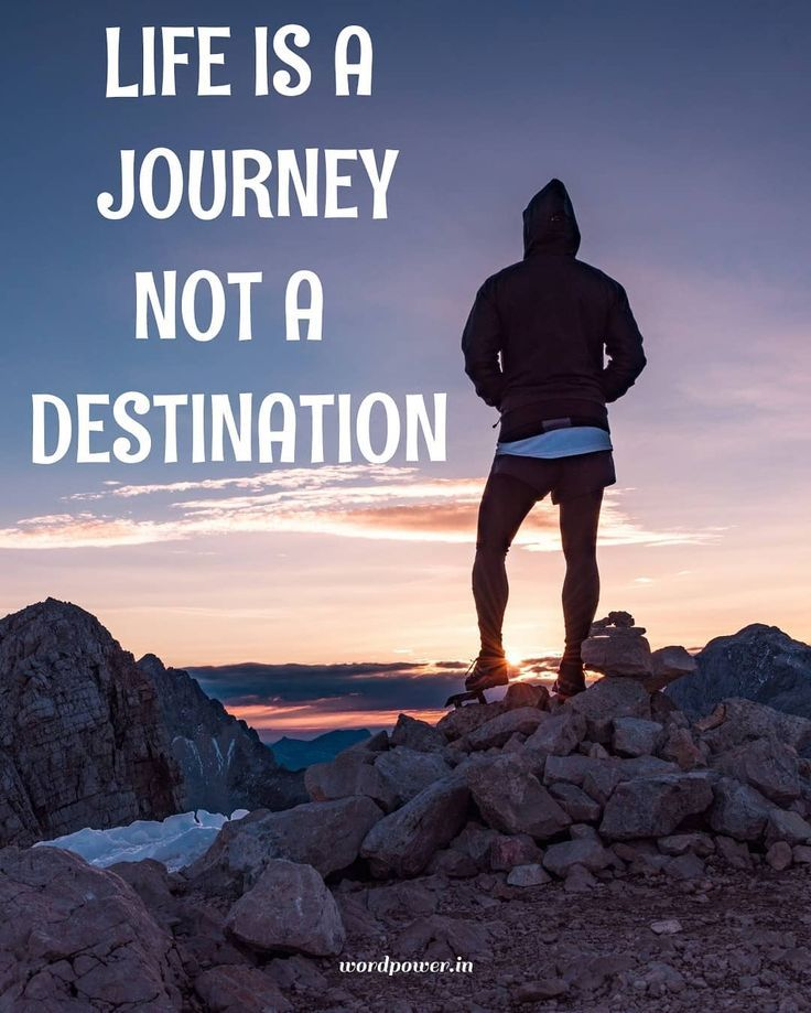 Life is a journey not a destination ewordpower quotes