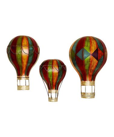 This Metal Hot Air Balloon Wall Art Set Is Perfect For The Kids