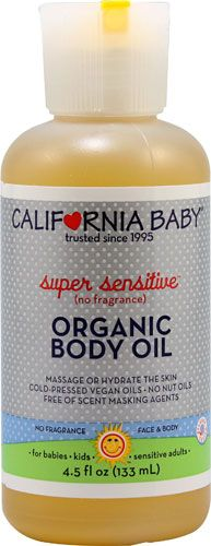 California Baby Super Sensitive Organic Body Oil No Fragrance 4 5 Fl Oz California Baby Fragrance Organic