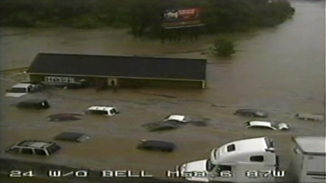 May 2010   a portable classroom floating down I 24 Somehow this has