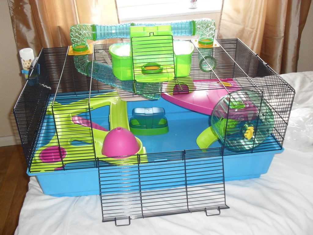 Hamster Heaven Metro A Deluxe Cage With Tunnels For Hamsters Your Hamster Will Feel Like Heaven In This Cage The Hams Hamster Cages Hamster Hamster Bin Cage