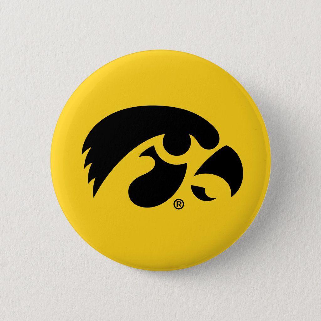 Iowa Logo Hawkeye Button Zazzle Com Cool Buttons Hawkeye Iowa