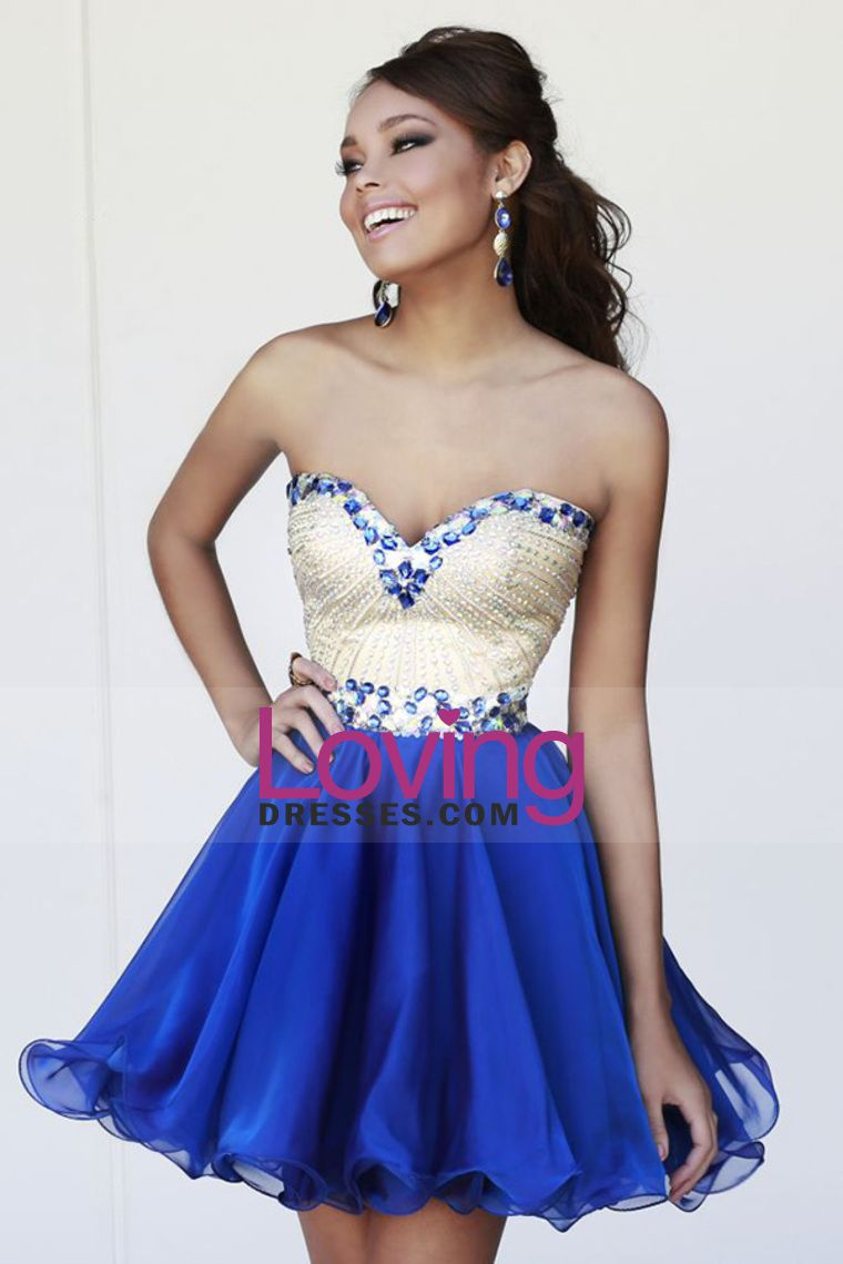 cute beaded bodice sweetheart homecoming dresses a line short
