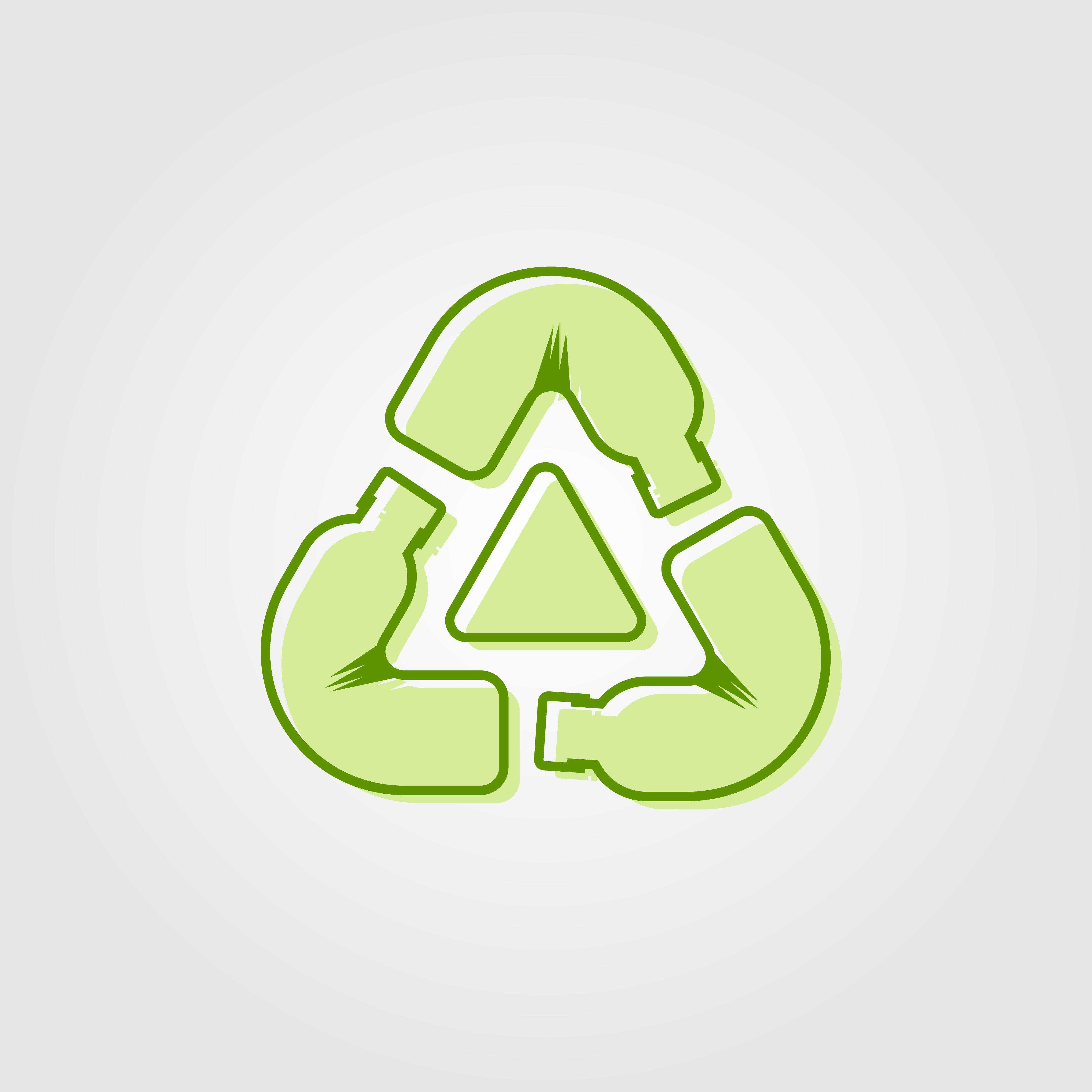 Recycle Plastic Bottle Logo Icon Vector Line Outline Monoline Green Color By Linimasa Desain Logo Desain Tekstil