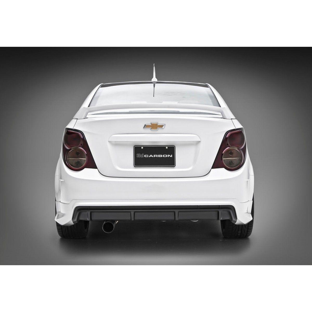 3dcarbon Chevy Gm Sonic 4dr Sedan 2012 2013 5 Piece Body Kit