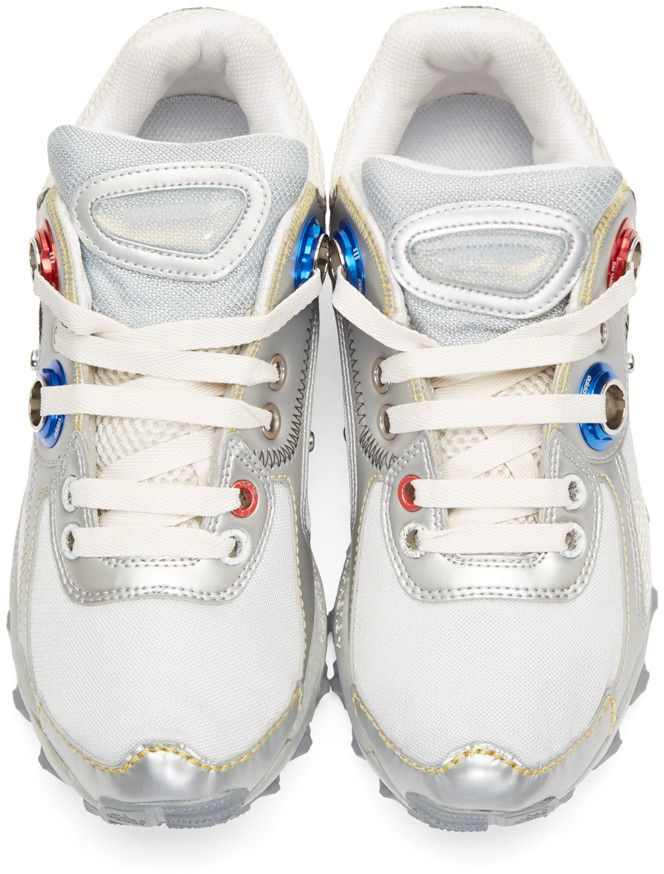 e6cc1514dda832 Raf Simons Silver adidas x RAF SIMONS Response Trail Robot Sneakers ...