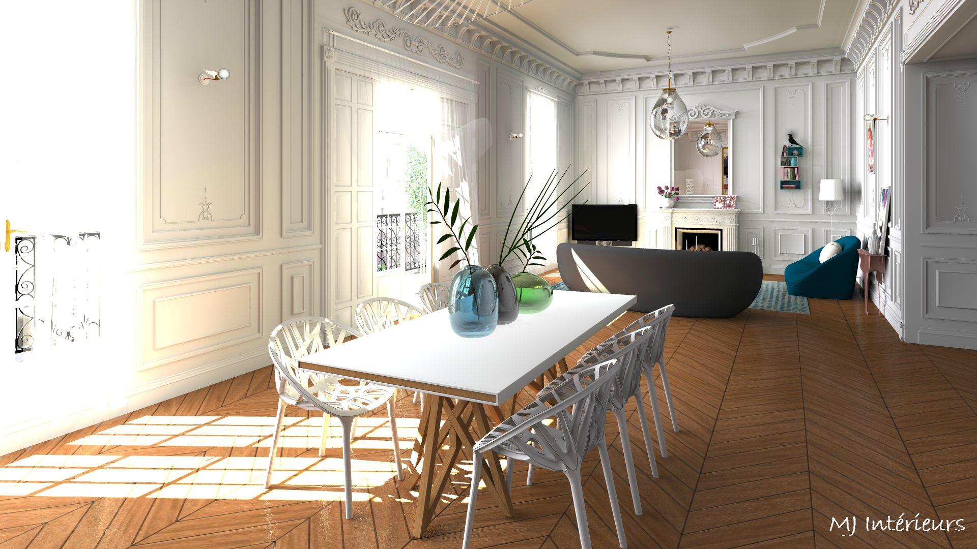 manger contemporain et design Salle au un salon à dans mnw8N0