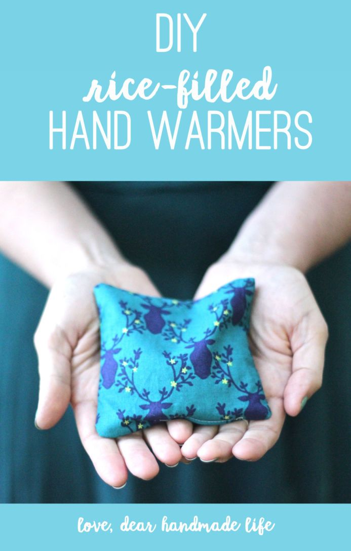 DIY rice hand warmers from Dear Handmade Life