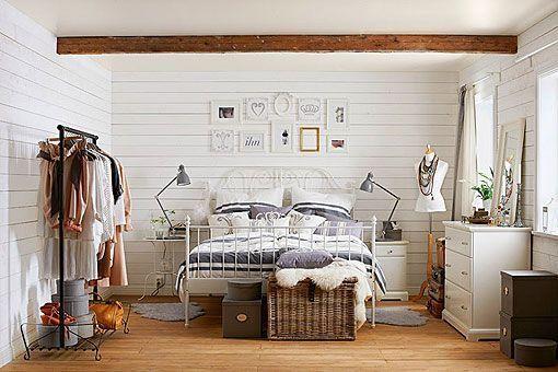 dormitorios decorados en blanco rustico - Buscar con Google   Deco ...