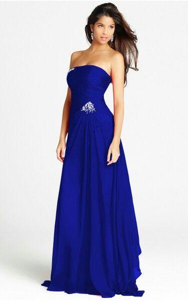 newest 21206 eb80e Vestito blu | abiti | Vestiti, Abiti da ballo neri e Abiti ...