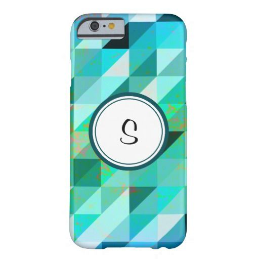Monogram Blue Green Geometric | Barely There Case for iPhone 6/6S Plus, iPhone 6/6S, iPhone 5/5S, iPhone 5C, iPhone 4,iPhone 3G/3GS