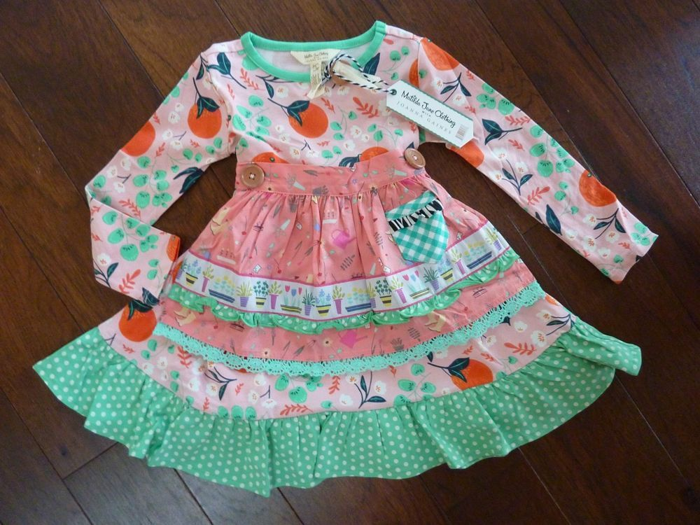 NEW Matilda Jane Joanna Gaines once upon time Sweet Clementine Dress size 2