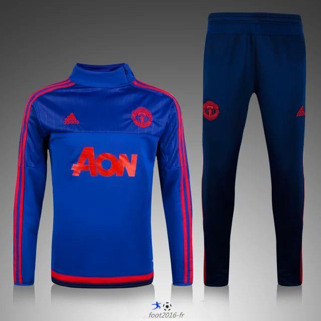 Grossiste de Survetement de foot Manchester United Le Bleu Marine 2015 2016 decathlon