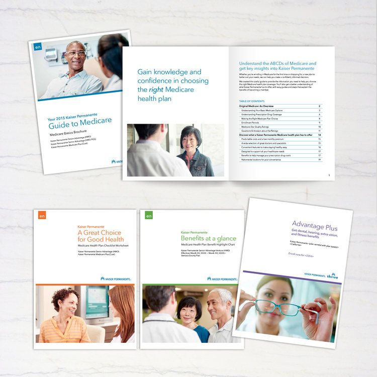 Kaiser Permanente Fulfillment This collateral series is