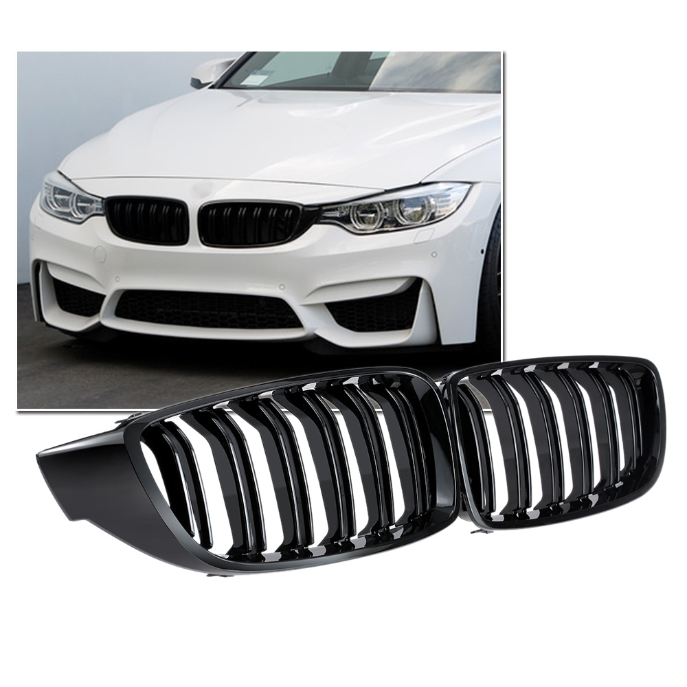 46.71$  Buy now - Gloss Black Front Kidney Grille Double Slat M4 Sport Style Grill for BMW F32 F33 F36 F82 Cabriolet Coupe  #magazineonline