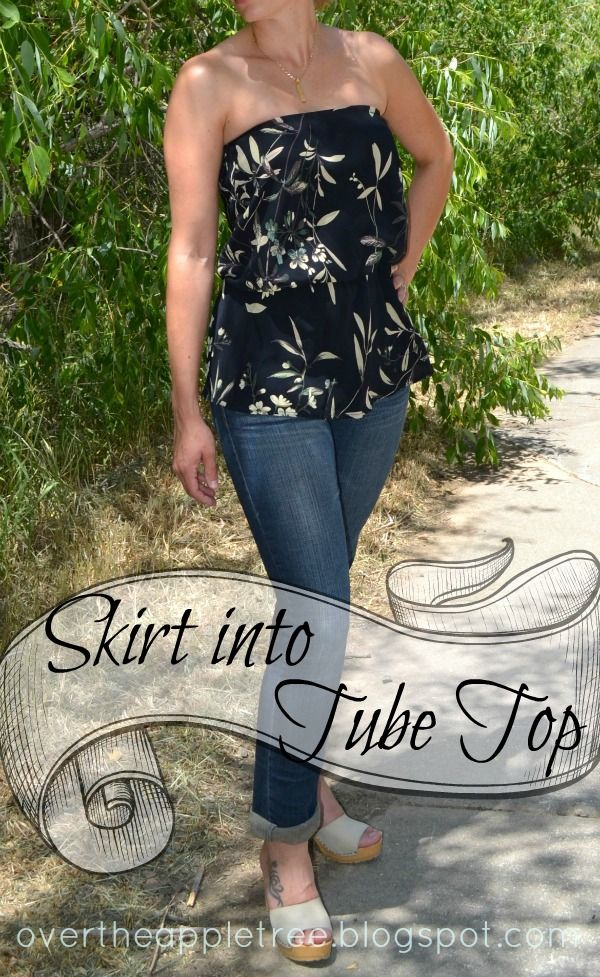How To Turn A Tshirt Into A Tube Top : tshirt, Summer, Trash, Couture,
