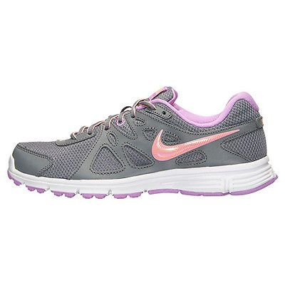 19be0fd5b1f2 Nike Revolution 2 Womens 554900-034 Grey Fuchsia Glow Running Shoes Size 9