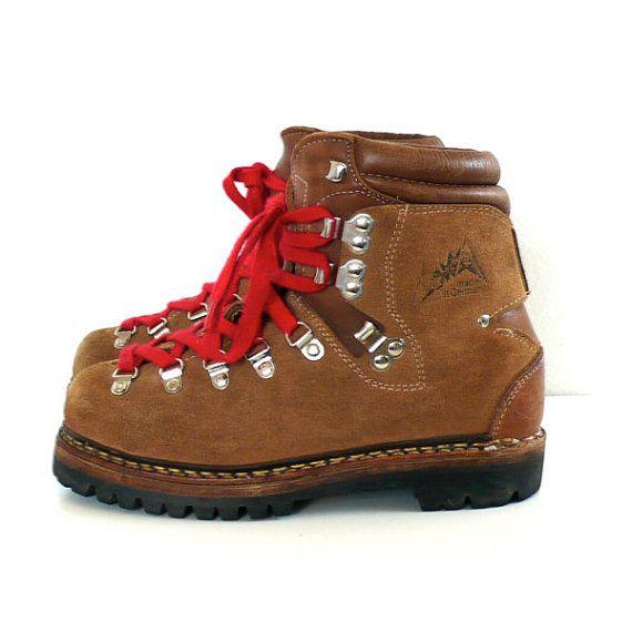Vintage Lowa Alpine Hiking Boots Size 3 1 2 By