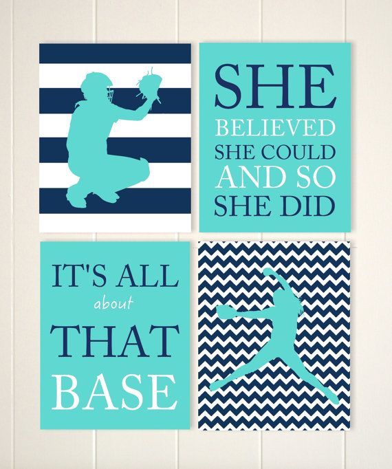 Softball Wall Art Girls Room Sports Decor Pre Teen Girl Rhpinterest: Softball Bedroom Decor At Home Improvement Advice