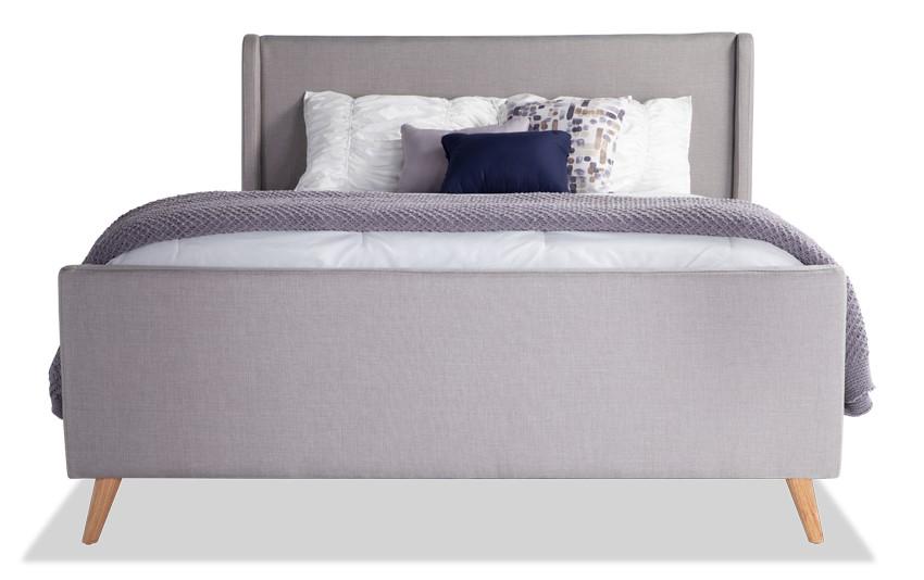 Copenhagen Queen Onyx Upholstered Bed Upholstered Beds Grey Upholstered Bed Bed