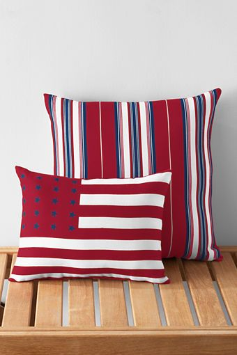 4th Of July Pillows Made In The Usa Landsend Celebrate With Made